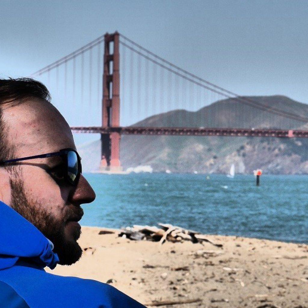 Corporate Publishing & Content Marketing - Foto: Conplore Magazine - Gründer und Herausgeber Matthias Buchholz, San Francisco, Golden Gate Bridge