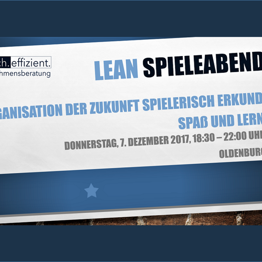 Lean Spieleabend Oldenburg