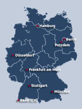 IFM-Standorte in Deutschland und der Schweiz