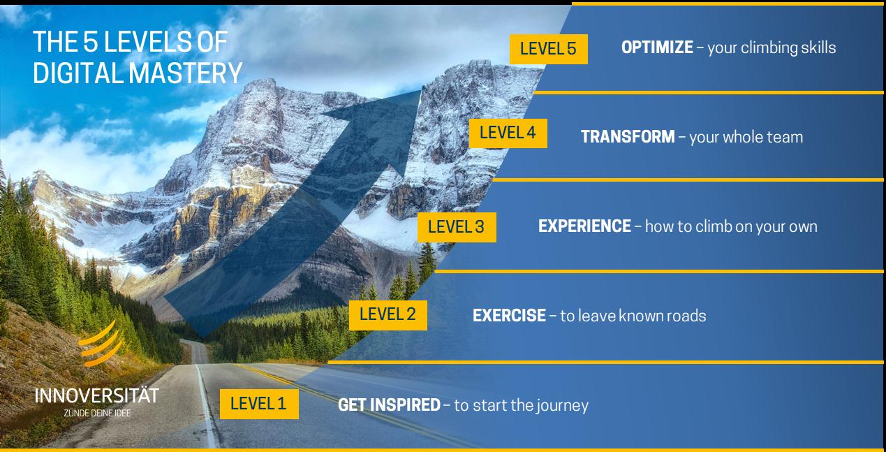 Grafik 2 - The 5 levels of digital mastery - Grafik Innoversität