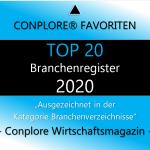 Conplore Favoriten Liste TOP 20 Branchenregister 2020 - Übersicht Branchenverzeichnisse