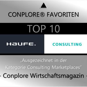 Conplore Favoriten Top 10 Consulting Marketplaces 2020 - Favoritenportrait Haufe Advisory GmbH